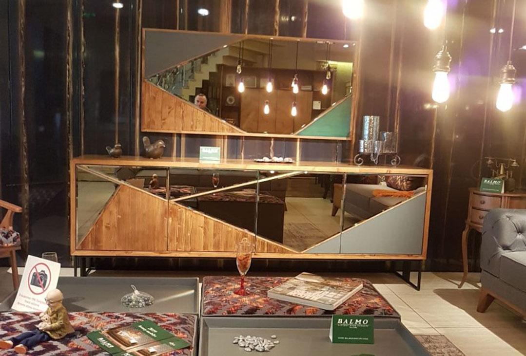 balmo mobilya gordion ayna yemek odası